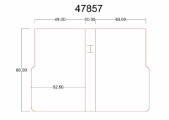 47857 - (52,5+10+52,5)x80